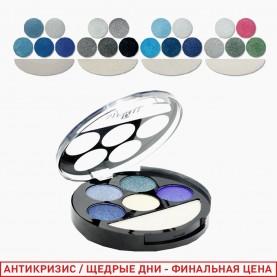 1810 A new микс 6-цветная палетка для век 4 группы/зеркало+стик/ 15 гр. (24/уп 144/кор)