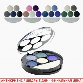 1810 B new микс 6-цветная палетка для век 4 группы /зеркало+стик/ 15 гр. (24/уп 144/кор)