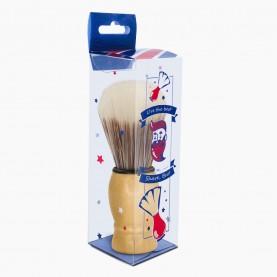 "SHBR01+XC-SH-коробочка ""Shave, bro"" +стикер шк кисть для нанесения на лицо деревян ручка 9,5*3,5 см 30 гр (6 шт/уп ZIP 25*35-600/кор)"