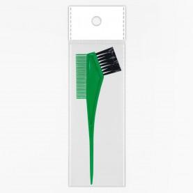 кисть PHB05 ОРР для окраски волос цветная 105 дли20 см с расч 6,5 см\кисть 3,5 см, 9 гр. (12шт/уп zip 18*25 -1200шт/кор)