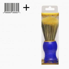 SHBR05 ИК пвх + ШК кисть для нанесения на лицо цветн железн обод пластик ручка 11 см 40 гр. (6шт/уп)