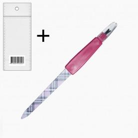 NFM022 ОРР+шк металлическая 17 см пилочка c триммером узор РАЗВОДЫ (24шт./уп ZIP 17*25-2400/кор)