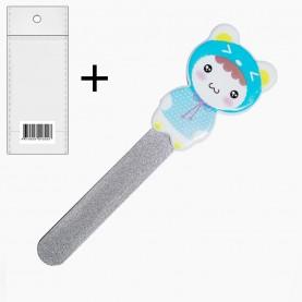 NFM017 ОРР+шк пилка металлическая , разноцветные мишки - пластик 10 см (12шт/уп-2400шт/кор 13гр