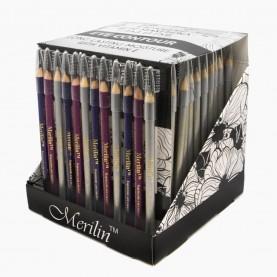 CP005 ШБ МИКС ДЛЯ ГЛАЗ карандаш деревянный с щеточкой 144 шт/уп (3456 шт/кор) 14 см.