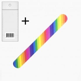 NFPP5 ОРР 5*29+стикер шк пилка для ногтей 17,8 см цветная (50шт/уп ZIP 17*25- 3000/кор)