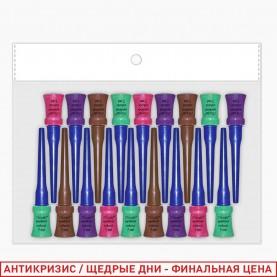 RUEL017_ ПОДВОДКА МИКС ОРР (корич. изумр. фиол. розов) кисть мягкая 7ml (18шт/уп кор/240шт)