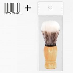 SHBR01 ОРР-1+стикер шк кисть для нанесения на лицо деревян ручка 9,5*3,5 см 23гр. (24шт/zip пакет 25*35 600/кор)