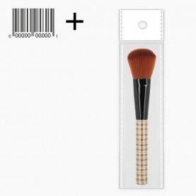 BR107 ОРР+шк кисть для макияжа из высококачественного синтетического ворса ручка с рисунком 17 см (12шт/уп-1200шт/кор) 27гр.