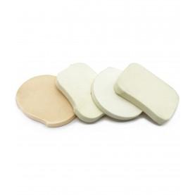 спонжик ОРИГИНАЛЬНАЯ рубка в ассортименте для нанесения средств для макияжа (50/уп 8000шт/кор)