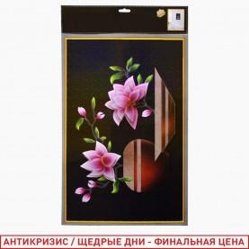 ROOM DECOR SDJ-3008 -Розовые цветы в вазе- 34*56 см (1 шт/уп 400 шт/кор)