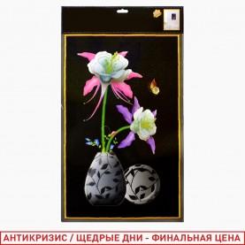ROOM DECOR SDJ-3001 цветы в вазе 34*56 см (1 шт/уп 400 шт/кор)