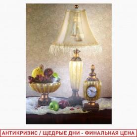 ROOM DECOR AF-9001 Комнатная напольная ЛАМПА+ часы+ваза с фруктами 32*47 см (1шт/уп 500 шт/кор)
