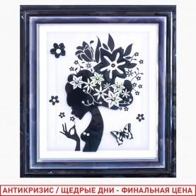 ROOM DECOR HFB010 картина в рамке силуэт девушка- весна природа 45*35 см (1шт/уп 360 шт/кор)