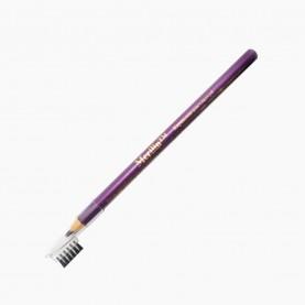 CP005 карандаш фиолетовый для глаз деревянный с щеточкой 12шт/уп (3456 шт/кор) 14 см.
