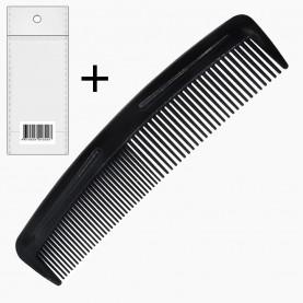 CMB002 ОРР+стикер шк расческа 2 мужская классическая (черный цвет) 12 cm (уп/30шт кор/4500шт ZIP 15*20 )