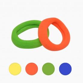 HP 06 заколка-резинка 2.5 см разноцветный МИКС (яркие - желтый, розовый, салат, сини) в упаковке 90-100 шт (100 шт в ОРР) цена за 1 шт