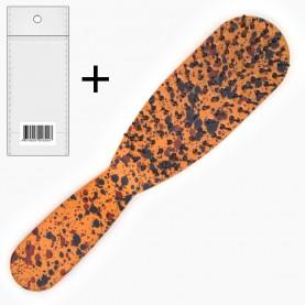 CMB208+стикер ш/к расческа - щетка продолговат с ручкой крапинка 15*3,5*2,5 см. 35 гр в ОРР ( 12 шт/уп ZIP 25*35-432шт/кор)