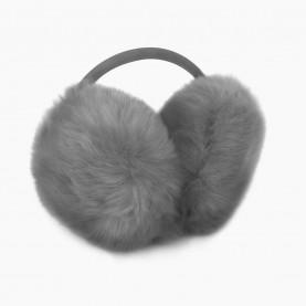 EАR02 Наушники СЕРЫЙ на голову искусственный мех d ушек = 13 см d ободка = 13 см 84 гр. (480 шт/кор)