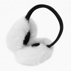 EАR03 Наушники БЕЛЫЕ на голову складывающиеся искусственный мех d ушек = 15 см d ободка = 13см 74 гр. (480 шт/кор)