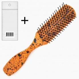 CMB209 расческа-щетка стикер ш/к продолговат с ручкой крапинка 16,5*3*2,5 см. 31 гр ОРР (12 шт/уп в коробе-432шт/кор)