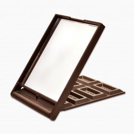 MIR16 зеркало прямоугольное кейс плитка ШОКОЛАДа (8 долек) 5*7 см в ОРР на кипине 21 гр. (12 шт/уп 960/кор)