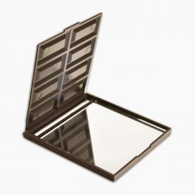 MIR18 зеркало прямоугольное кейс плитка ШОКОЛАДа (8 долек) 6,5*7,5 см в ОРР на кипине 30 гр. (12 шт/уп 720/кор)