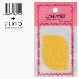 SPN14 AV 9*15+шк губка для умывания и снятия макияжа лепесток 8 см х 1см(толщ) (10 шт/уп 2000/кор)