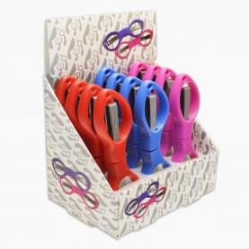 ножницы NS200 маникюрные складные безопасные с пластиковой глянцевой ручкой в ШБ16 гр. 10 см (сложенные - 9 см) (12 шт/уп 720/кор)