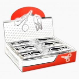 ножницы NS300 ШБ маникюрные металлические складные безопасные в ШБ 15 гр. (сложен 5,5 см, разлож - 9,5 см) (24шт/уп 1200/кор)