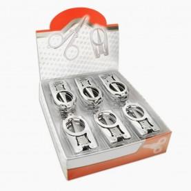 ножницы NS301 ШБ маникюрные металлические складные безопасные в ШБ 20 гр. (сложен - 5,8 см, разлож - 10,5 см) (24 шт/уп 1200/кор)