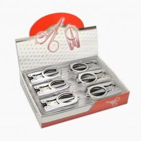 ножницы NS302 ШБ маникюрные металлические складные безопасные в ШБ 28 гр. (сложен -6,5 см, разлож - 12 см) (24шт/уп 1200/кор)