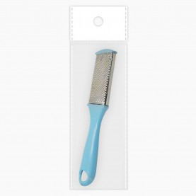 пяткотерка PF16 (ОРР+стикер шк 17,5 см 2ух-сторон желез терка/абразив с пластик ручкой 22 гр.) (24 шт ZIP 25*35 1200шт/кор)
