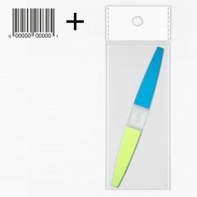 """NB04 OPP7*18 пилка для шлифовки ногтей """"4 steps"""" разноцветная 12g (12шт/уп - Zip 18*25) 15 cm"""