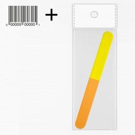 NB08 OPP CB 5*20 пилка для шлиф ногтей 3 steps разноцвет 17,8 см(25 шт/уп)