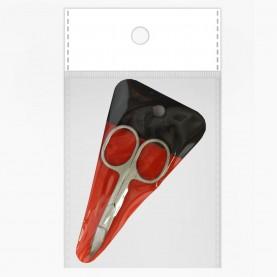 NS11 OPP CB 10*15 + PVC ножницы маникюрные 9см. хай сталь профи ( 15 шт/уп) стикер ш/к