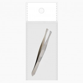 TW09 ОРР+стикер шк пинцет стальная ёлочка 8,8 см 7 гр. (24 шт/уп ZIP 15*20 -6000шт/кор)