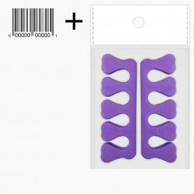 Разделитель для пальцев педикюрный МИКС (SPT005,011,SF01) ОРР10*17 + шк (12 шт/уп 180 шт/кор) цена за пару