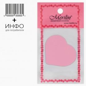 SPN09 AV8*14+шк спонж резин- софт, сердечко микс 5*5,5 h-2 см для макияжа и умывания 3 гр.(10 шт/уп 2000/кор)