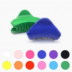 HP215 заколка-крабик волна разноцветный МИКС/ волос 4 см 4 зубчика 5 гр. ( 6 шт/уп ОРРкор/3600шт)