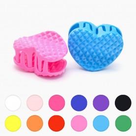 HP216 заколка-крабик плетеное сердечко разноцветный МИКС/ волос 4 см 3 зубчика 5 гр. ( 6 шт/уп ОРРкор/3600шт)