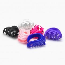 HP221 заколка-крабик волна петелька разноцветный МИКС/ волос 4,5 см 4 зубчика 5 гр. (6 шт/уп ОРРкор/3600шт)