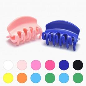 HP227 заколка-крабик дуга разноцветный МИКС/ волос 4 см 5 зубчика 5 гр. ( 6 шт/уп ОРРкор/3600шт)