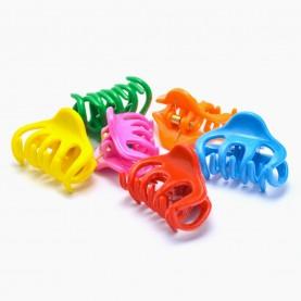 HP228 заколка-крабик осьминог разноцветный МИКС/ волос 3,5 см 4 зубчика 5 гр. (6 шт/уп ОРРкор/3600шт)