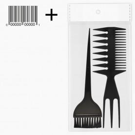 SHR301 ОРР+шк набор для волос головы 2 пр 40 гр. (расческа 407, кисть phb01) (12шт/уп)
