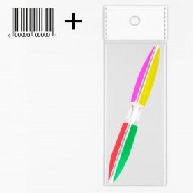 """NB06 OPP CB 5*20 пилка для шлифовки ногтей """"6 steps"""" разноцветная 15см. треугольник изогнутый (12шт/уп zip 17*25)"""