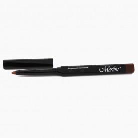 CP001 /016/ карандаш для глаз, стикер + шк автомат пластик коричневый, с точилкой в ОРР (12шт/уп) 12cm/0,2g.
