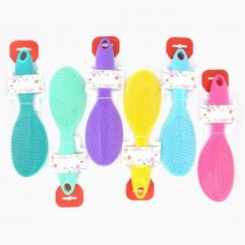 CMB520 щетка расческа ЛИТАЯ в ОРР+КИПИН пластик 6 цветов гибкий пластик для мокрых волос флексибл в собст.кор 22,5 см/ 90 гр. (12 шт/уп кор/ 144 шт)