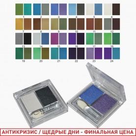 2061 микс - тени для век двойные 24 цвета 12 гр.(24шт\уп) (432шт/кор)