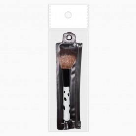 """BR101 ОРР 7*18 кисть для румян, ручка """"Далматинец"""" в кошельке замочком 14 см (12 шт/zip пакет 17*25 1200/кор) стикер +шк"""