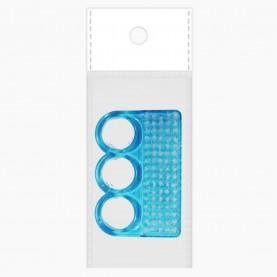 SHB04 щеточка для ногтей (ОРР+шк прозрачный ЦВЕТНОЙ пластик ТРИ КРУГА 7*4 см) (24шт/уп-1200шт/кор)